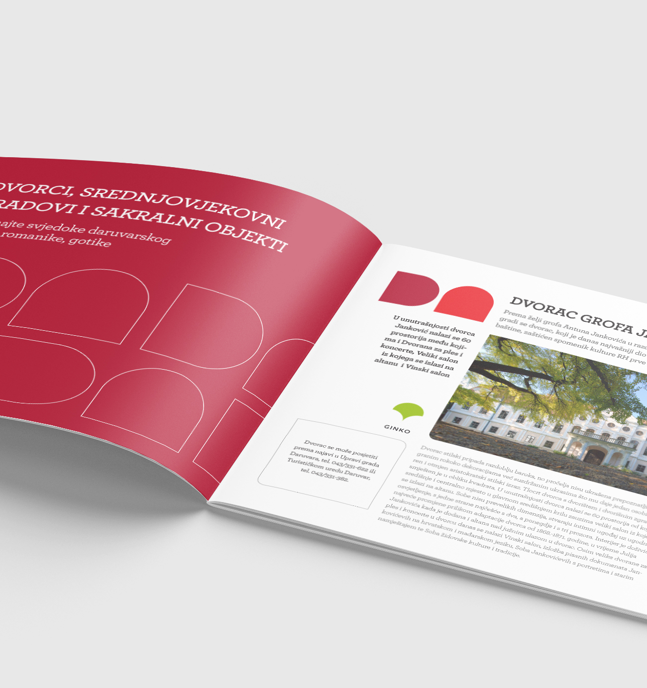 Brochure design, layout of inner pages