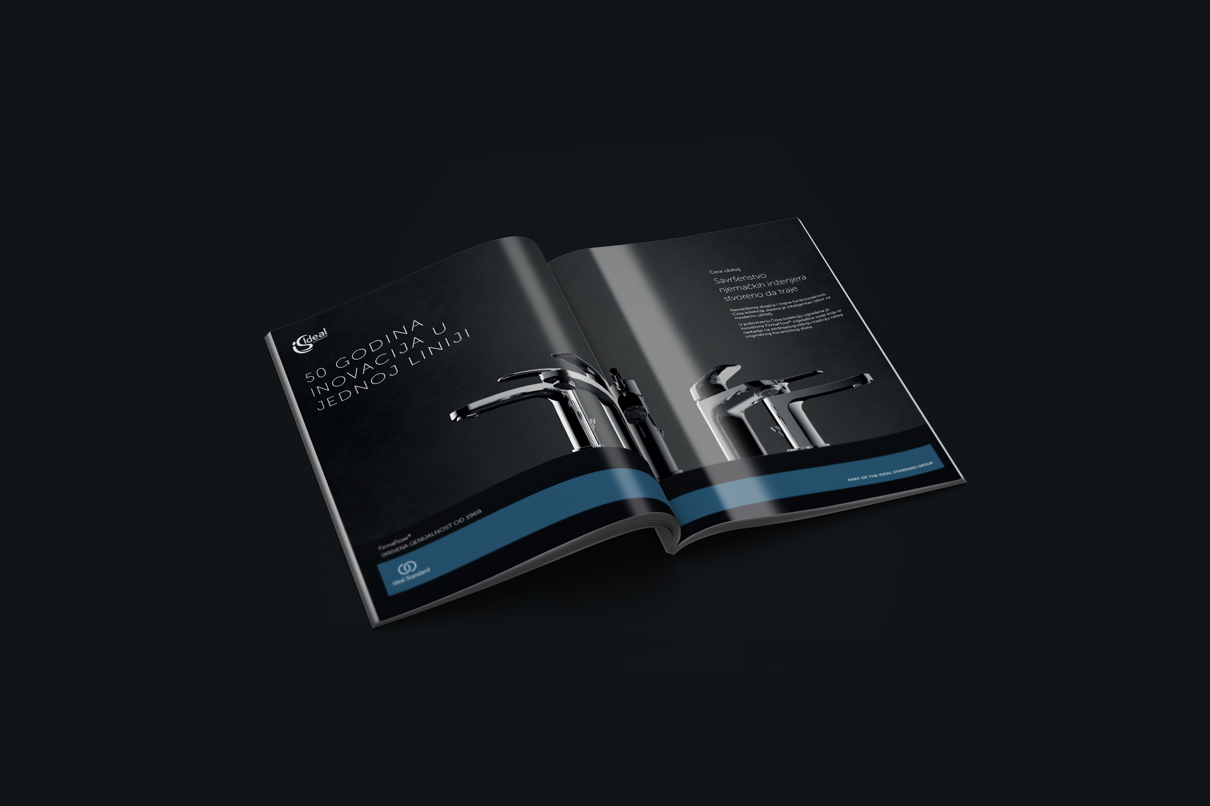 Image print ad for the Cera collection of taps